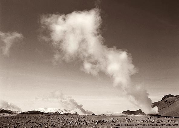 Beautiful steam vents in Iceland
