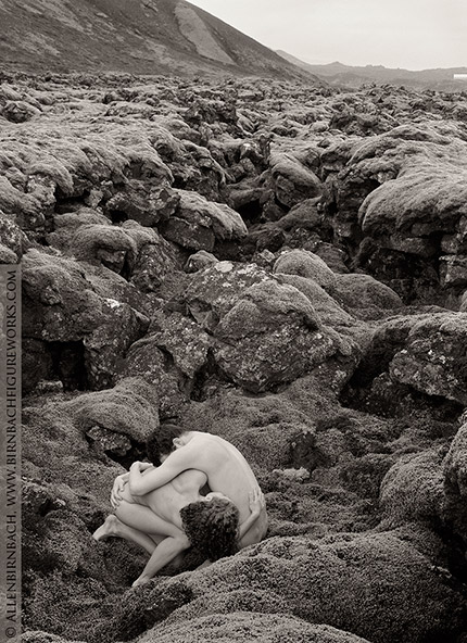 Fine art nude photograph in Iceland