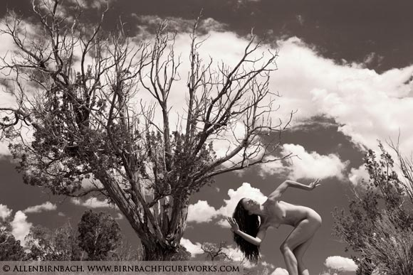 Fine art nude workshop photograph on location in Santa Fe New Mexico