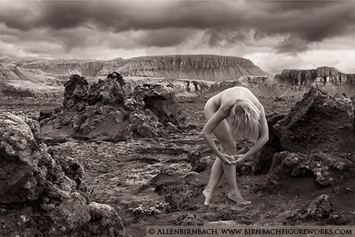 Fine art nude photograph in Iceland by Allen Birnbach