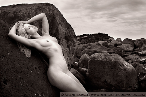 Fine art nude photograph in Iceland by photographer Allen Birnbach
