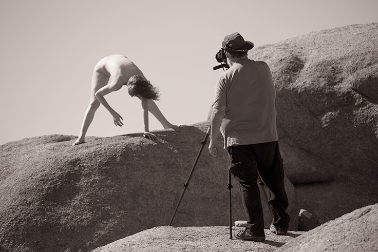 Joshua Tree nude photography workshop led by photographer Allen Birnbach